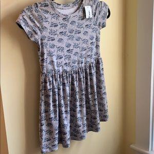 NEW Super Soft Gray Tiger Dress Epic Threads Kid 5
